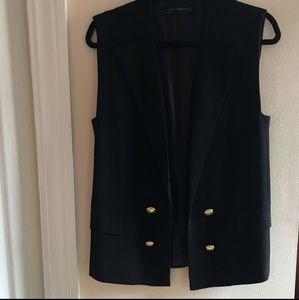 Zara tailored tuxedo vest
